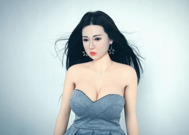 Realistic Silicone head TPE body hybrid Sex Doll with Implanted Hair OEM factory 165cm Female love doll real sex dolls